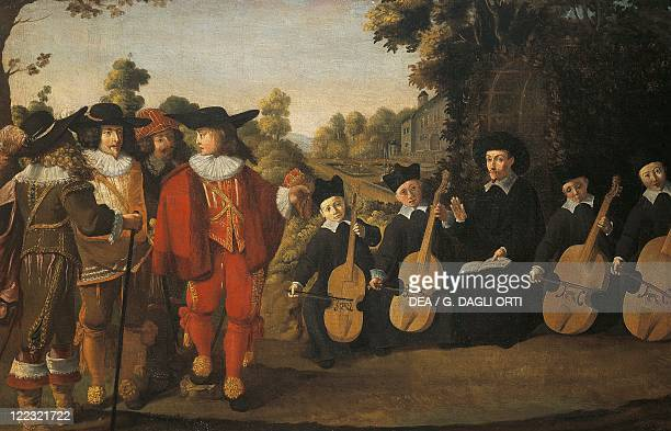 Unknown painter Isaac de Benserade Conducting a Motet before Louis XIII in 1630