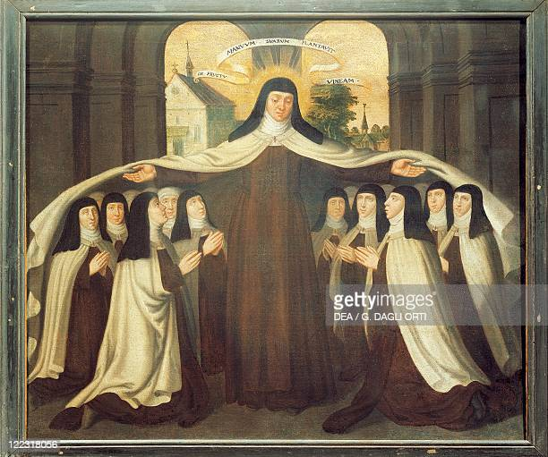 Unknown painter , Saint Teresa of Ávila Covering a Community of Carmelites with her Mantle.