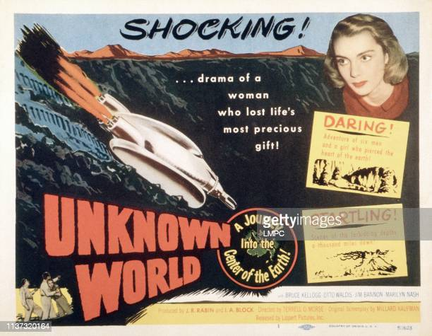 Unknown World poster US poster Marilyn Nash 1951