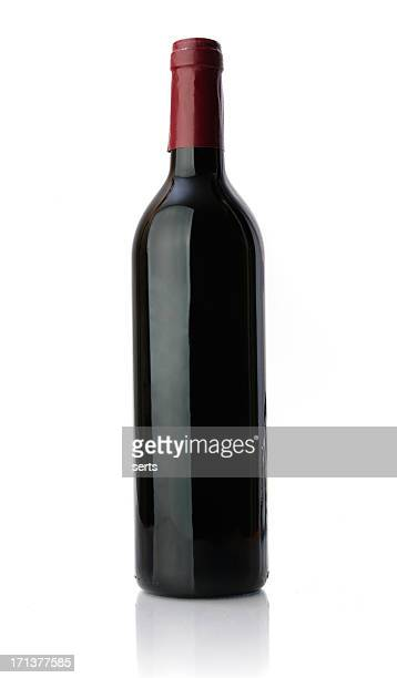 unlabeled bottle of red wine - wine bottle stock pictures, royalty-free photos & images