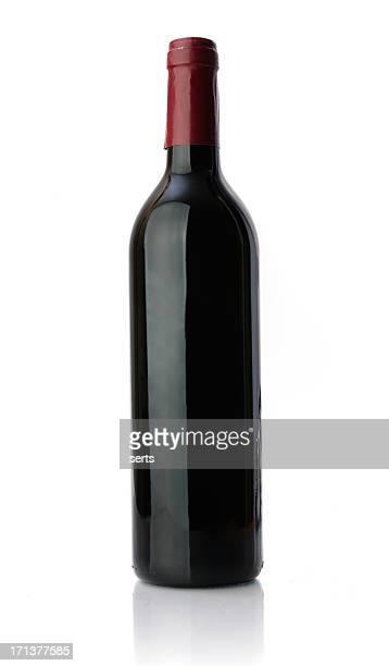 No marcado botella de vino tinto
