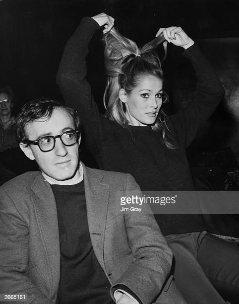Unlikely duo Woody Allen and Ursula Andress are among the stars at the 20th Royal Film Performance held at the Odeon Leicester Square London