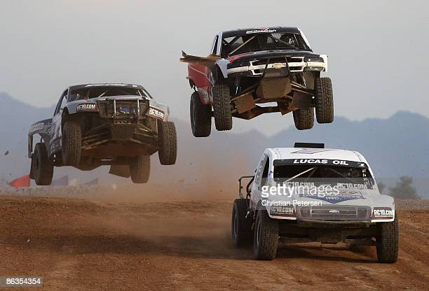 LOORRS unlimited 4 drivers Carl Renezeder Travis Coyne and Alan Pflueger compete in round 3 of the Lucas Oil Off Road Racing Series on May 2 2009 at...