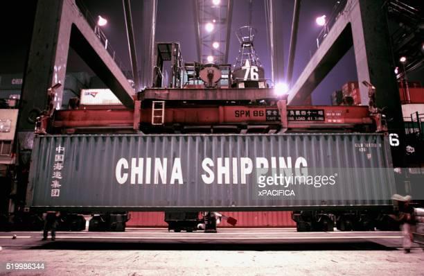 Unloading Cargo in Hong Kong