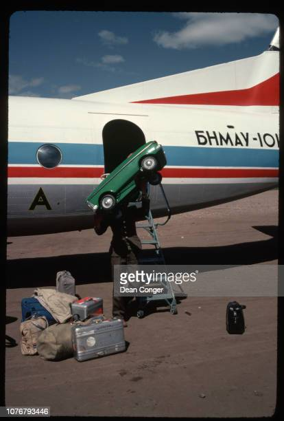 Unloading Toy Car From Plane Mongolia