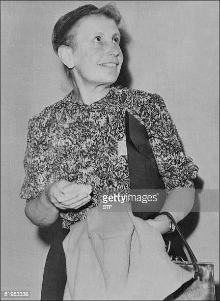 Unlocated picture dated 31 July 1957 of psychoanalyst Anna Freud, the daughter of Sigmund Freud. Born in Vienna, she chaired the Vienna...