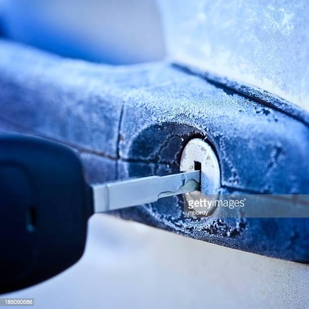 Unlocking car door in winter
