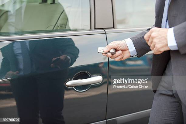 Unlocking car with remote control