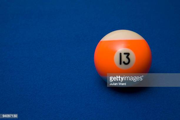 unlucky number 13 pool ball - bad luck stock pictures, royalty-free photos & images