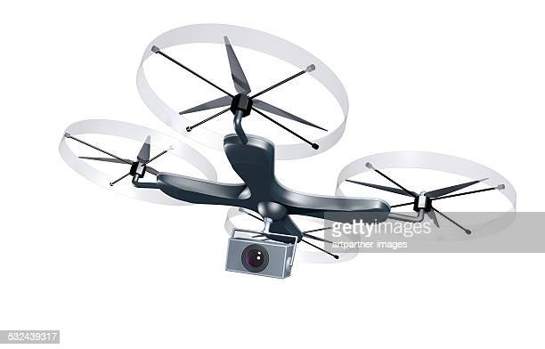 unmaned drone with camera - drone stock pictures, royalty-free photos & images