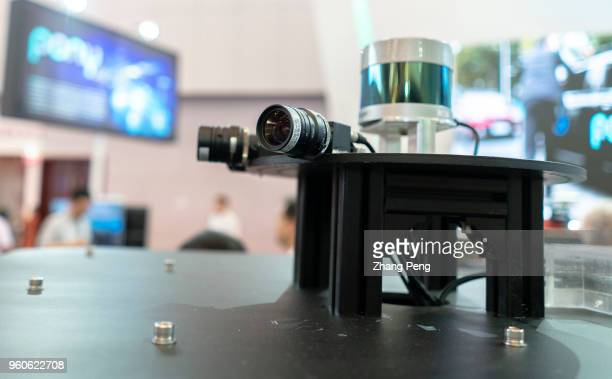 Unmanned driving system shown on the 2nd World Intelligence Congress held in Tianjin Meijiang Exhibition Center from May 1618 2018 The system is...