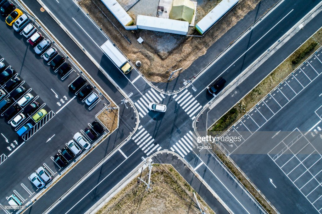 Unmanned parking lot and parking lot where lots of cars are parked. : Stock Photo