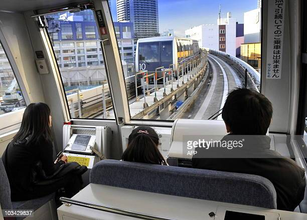 Unmanned transit system Yurikamome train runs at Tokyo's waterfront on January 23 2010 This new transit system also has unmanned stations AFP PHOTO /...