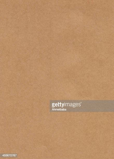 Unmarked rectangular sample of Kraft paper