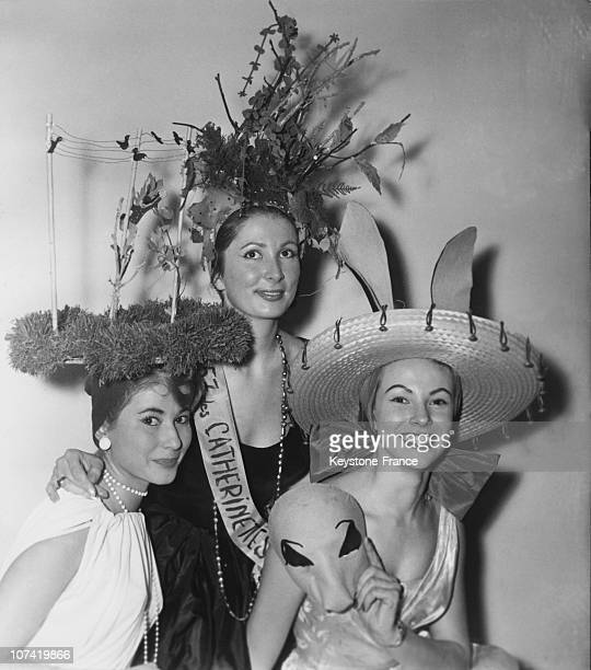 Unmarried Parisian Girls Celebrating The Saint Catherine Feast On November 19Th 1957
