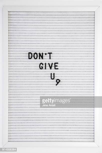 Unmotivated Letterboard Don't Give Up On Goals