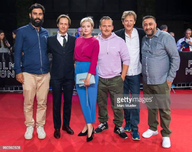 Unnamed , Tom Schilling, Jella Haase, Axel Stein, Jan Henrik Stahlberg and Kida Khodr Ramadan are seen at the red carpet before the premiere of the...