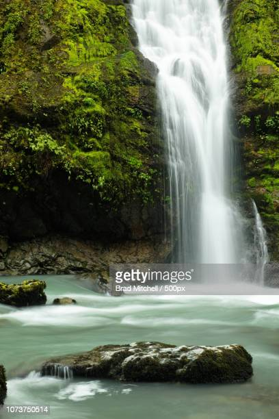 Un-named waterfalls fall into the Boulder River, Boulder River Wilderness, Mount Baker-Snoqualmie Na