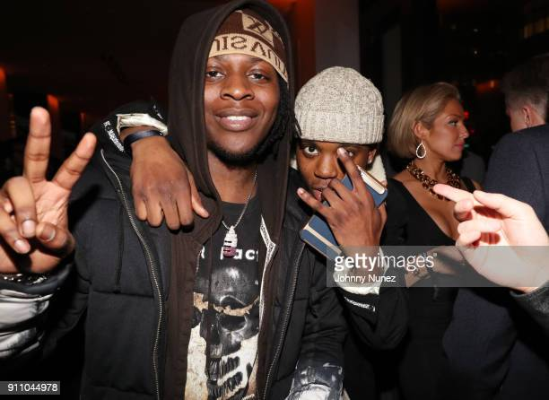 Uno The Activist attends the Republic Records PreGrammy Party at Cadillac House on January 26 2018 in New York City