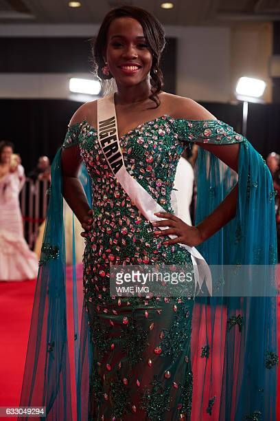 Unoaku Anyadike Miss Nigeria 2016 on the red carpet before The 65th MISS UNIVERSE® contest held at the Mall of Asia Arena on January 29 2017 in...