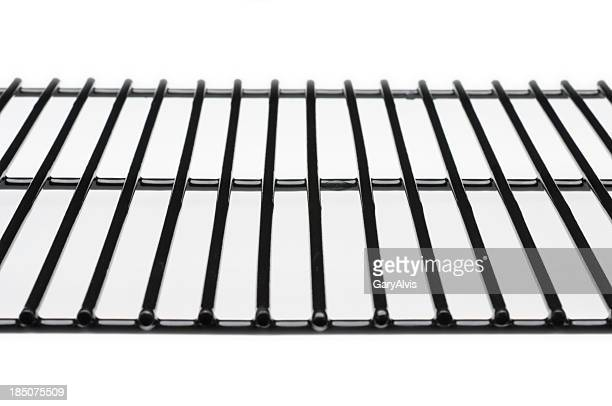 Unoccupied rack used for cooking an assortment of food