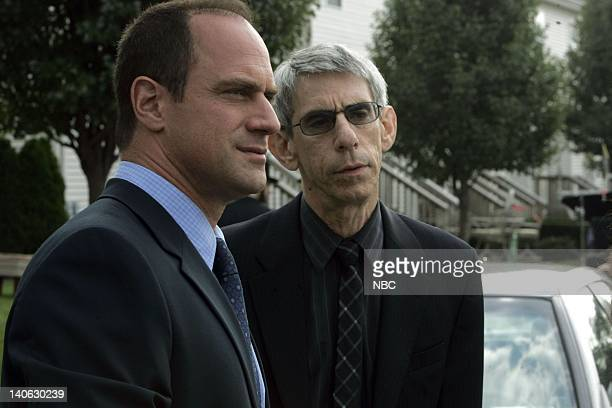 UNIT Unorthodox Episode 913 Pictured Christopher Meloni as Detective Elliot Stabler Richard Belzer as Detective John Munch Photo by Virginia...