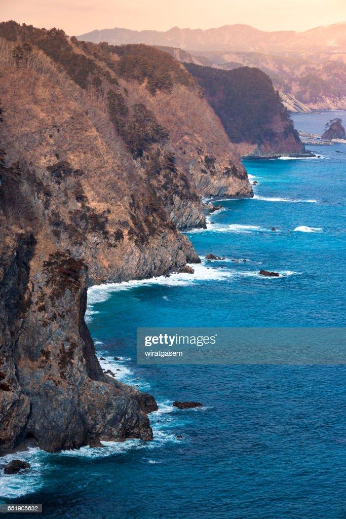 Unosu Cliff at Tanahota : Foto de stock