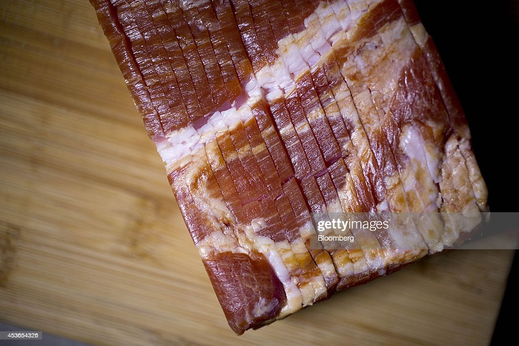 Unpackaged Tyson Foods Inc Wright Brand Sliced Bacon Is Arranged For News Photo Getty Images