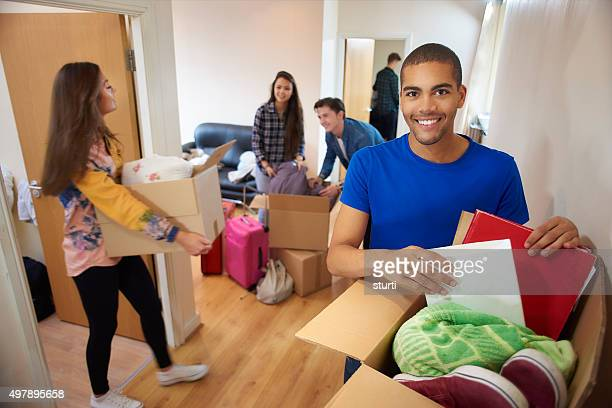 unpacking on first day at university - sturti stock pictures, royalty-free photos & images