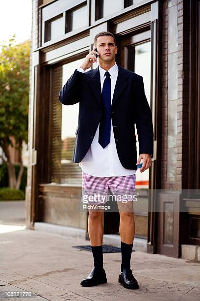 unprepared businessman - shorts stock pictures, royalty-free photos & images