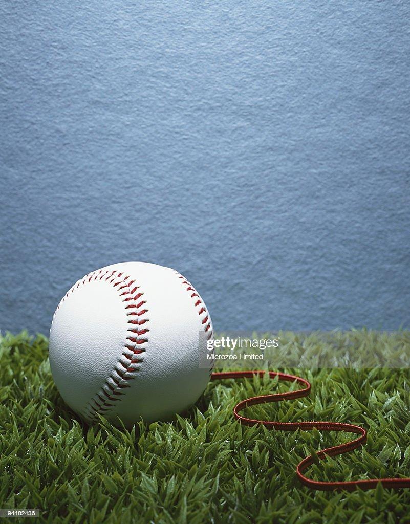 Unraveling baseball : Stock Photo