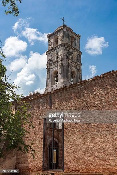 Unrepaired Santa Ana Church architectural details This church dating from 1812 has long been abandoned and is in danger of falling down Trinidad de...