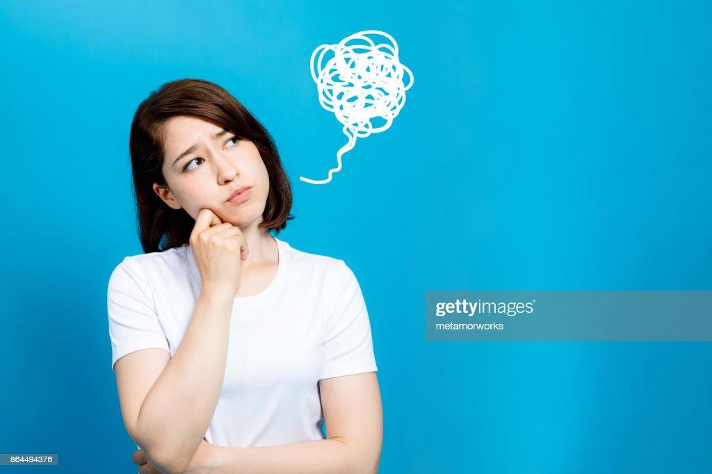unsatisfying woman : Stock Photo