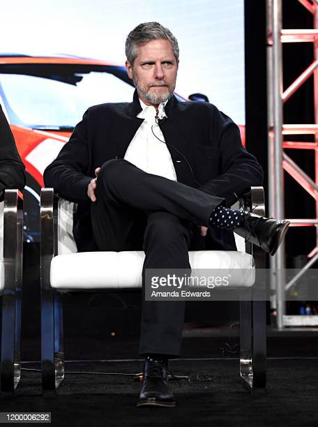 SVP Unscripted Programming BBC Studios Travis Shakespeare of 'Top Gear America' speaks onstage during the MotorTrend portion of the Discovery Inc TCA...