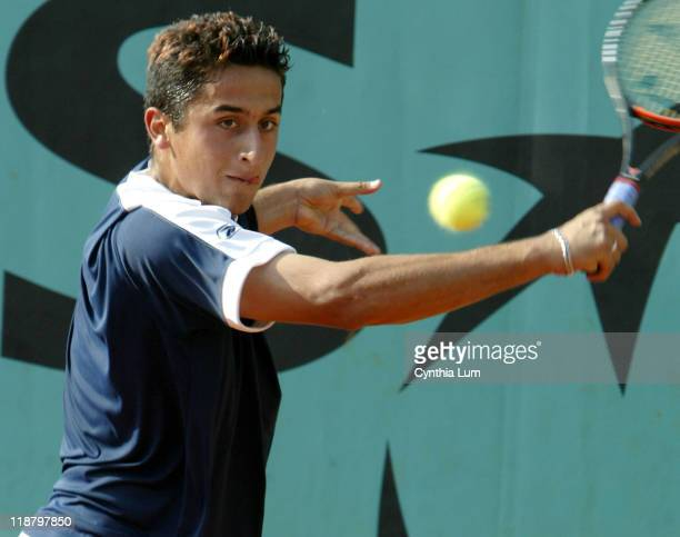 Unseeded Nicolas Almagro gave Gustavo Kuerten a scare in their first round match winning the second two sets and forcing Kuerten into a fifth, with...