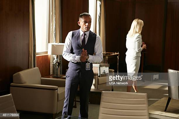 AFFAIRS Unseen Power of the Picket Fence Episode 503 Pictured Hill Harper as Calder Michaels Kari Matchett as Joan Campbell