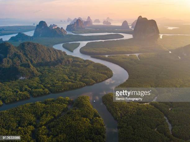 Unseen thailand : Phang nga bay in sunset