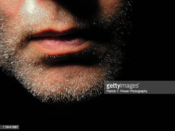 unshaven face - stubble stock pictures, royalty-free photos & images