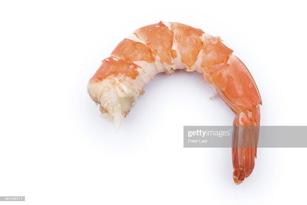 unskin shrimp on white : Stock Photo