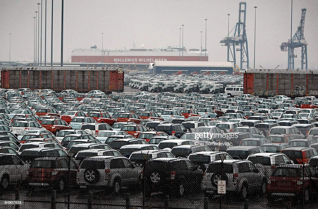 In Shaky Economy, New Cars Pile Up At U.S. Ports Photos and Images ...
