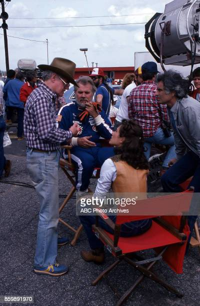 Daniel Petrie Kenny Rogers Erin Gray on set of Six Pack