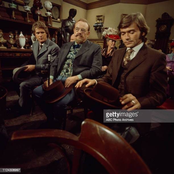 Ben Murphy Burl Ives Pete Duel extras appearing in the Walt Disney Television via Getty Images series 'Alias Smith and Jones'