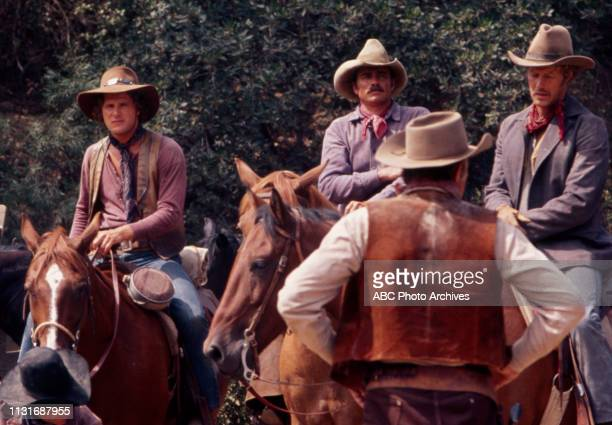 Ben Murphy Glenn Corbett Frank Converse appearing in the Walt Disney Television via Getty Images tv series 'Alias Smith and Jones'