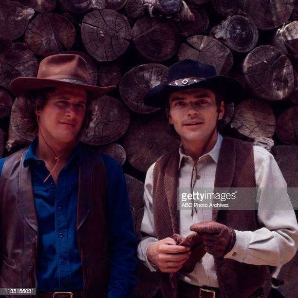 Ben Murphy, Pete Duel appearing in the Walt Disney Television via Getty Images tv series 'Alias Smith and Jones'.