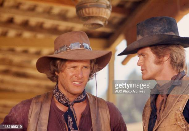 Ben Murphy, Roger Davis appearing in the Walt Disney Television via Getty Images tv series 'Alias Smith and Jones'.