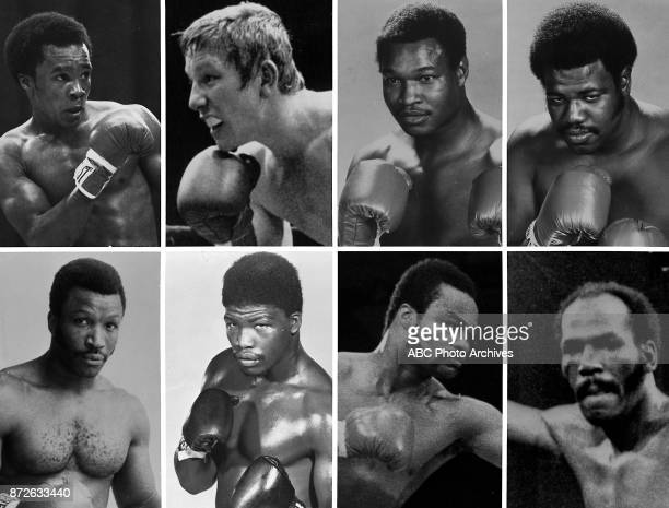 Boxers Sugar Ray Leonard Dave 'Boy' Green Larry Holmes LeRoy Jones Mike Weaver John Tate Eddie Mustafa Muhammad Marvin Johnson portraits