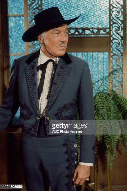 Cesar Romero appearing in the Walt Disney Television via Getty Images series 'Alias Smith and Jones'
