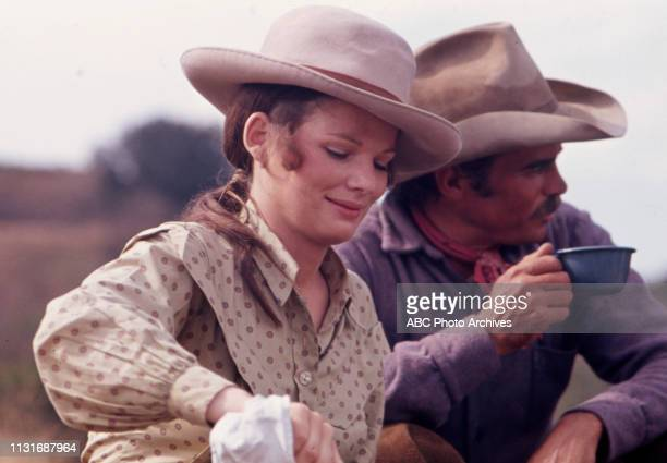 Christine Belford Glenn Corbett appearing in the Walt Disney Television via Getty Images tv series 'Alias Smith and Jones'