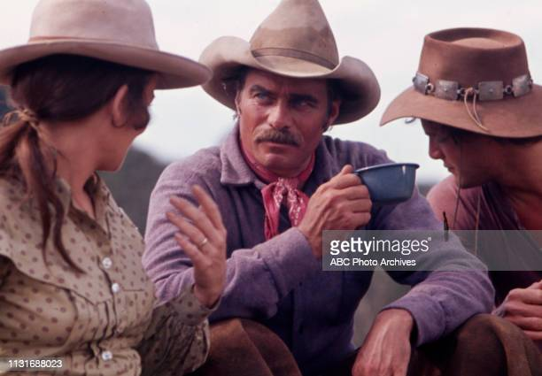 Christine Belford Glenn Corbett Ben Murphy appearing in the Walt Disney Television via Getty Images tv series 'Alias Smith and Jones'