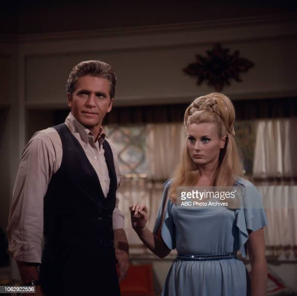 Don Matheson Celeste Yarnall appearing on Walt Disney Television via Getty Images's 'Land of the Giants'